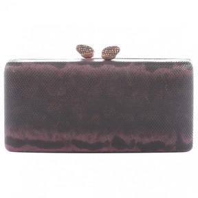 Kotur Anthracite Leather Clutch Bag