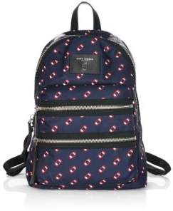 Marc Jacobs Graphic Print Backpack - NAVY - STYLE