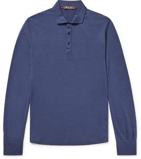 Loro Piana Silk And Cotton-Blend Polo Shirt
