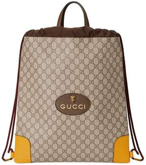 Gucci GG Supreme drawstring backpack - NUDE & NEUTRALS - STYLE