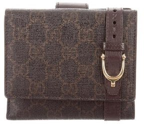 Gucci GG French Flap Wallet - BROWN - STYLE