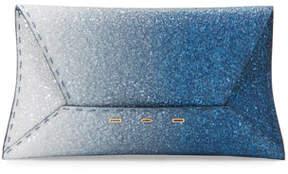 VBH Manila Ombre Glitter Clutch Bag, Blue/Silver