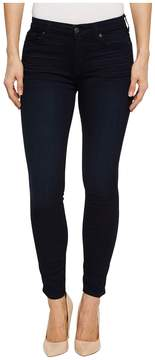 7 For All Mankind High-Waist Ankle Skinny in Blue Black Twilight Women's Jeans