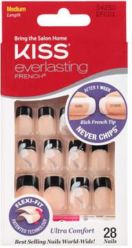 Kiss Everlasting French Nails Kit, Medium Length Black Tip