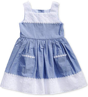 Sweet Heart Rose Eyelet Chambray Dress, Toddler Girls (2T-5T)