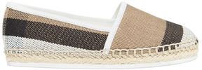 Burberry Check Cotton Canvas & Patent Espadrilles