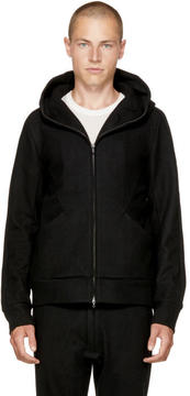 Attachment Black Zip Hoodie