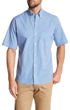 Tailorbyrd Short Sleeve Gingham Print Trim Fit Shirt
