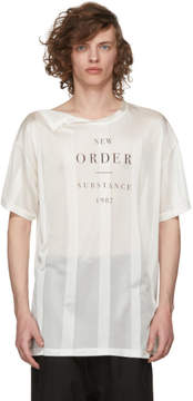 Raf Simons Beige New Order Substance Net T-Shirt