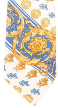 Gianni Versace Ornate Silk Tie