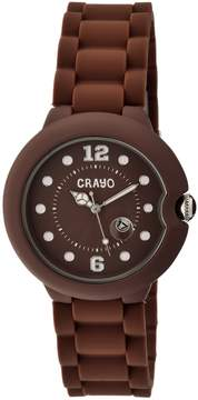Crayo Muse Brown Dial Brown Silicone Unisex Watch