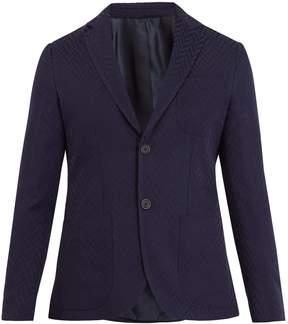 Giorgio Armani Single-breasted geometric-pattern blazer