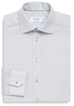 Eton Geometric Print Contemporary-Fit Cotton Dress Shirt