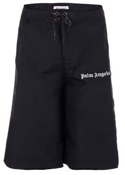 Palm Angels Men's Black Polyester Shorts.