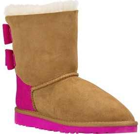 UGG Girls' Bailey Bow Wool Boot Chestnut Size 3 M
