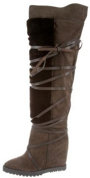 Ivy Kirzhner Shearling-Trimmed Wanderer Boots w/ Tags