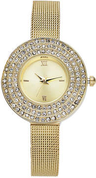 Charter Club Women's Gold-Tone Mesh Bracelet Watch 29mm, Created for Macy's