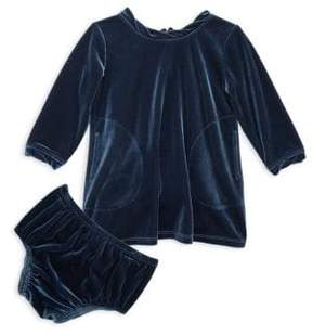 Splendid Baby's Two-Piece Velour Bloomers& Dress Set