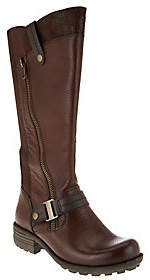 Earth As Is Origins Leather Wide Calf Tall Boots - Portia