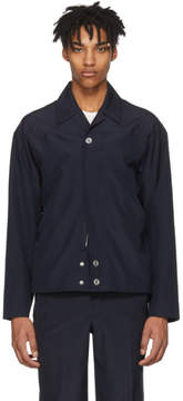 MACKINTOSH 0002 Navy Zip and Button Jacket