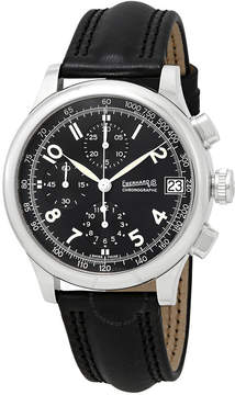 Co Eberhard And Traversetelo Chronograph Automatic Black Dial Men's Watch