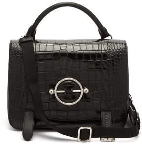 J.W.Anderson Disc Patent Leather Satchel Bag - Womens - Black