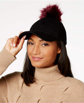 INC International Concepts Interchangeable Pom Pom Baseball Cap, Created for Macy's