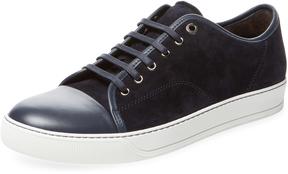 Lanvin Men's Lamb Leather Low Top Sneaker
