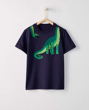 Hanna Andersson Sueded Jersey Applique Tee