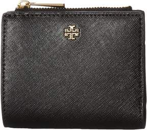 Tory Burch Robinson Mini Wallet Wallet Handbags - BLACK - STYLE