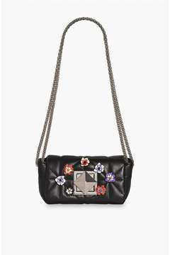 Sonia Rykiel | Le Copain Floral Pin Detail Leather Bag