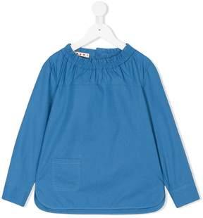 Marni ruffled neck blouse