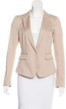 Mantu Long Sleeve Notched-Lapel Blazer
