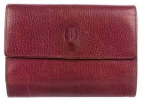 Cartier Logo Leather Wallet