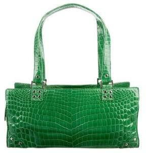 Lambertson Truex Crocodile Structured Bag