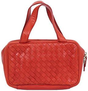 One Kings Lane Vintage Bottega Rust Woven Zipped Handbag