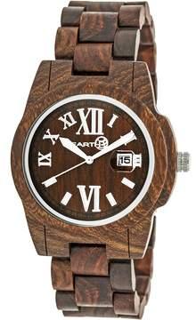 Earth Heartwood Eco-Friendly Dark Brown Wood Heartwood Unisex Watch