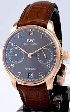 IWC Portugeiser Slate Grey Dial 18K Rose Gold Automatic Men's Watch