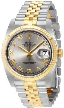 Rolex Datejust Rhodium Dial Steel and 18K Yellow Gold Men's Watch