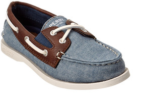 Sperry Boys' Chambray Canvas & Leather Casual
