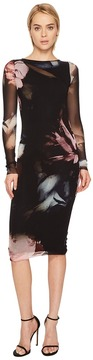 Fuzzi Long Sleeve Fitted Printed Cover-Up Women's Swimwear