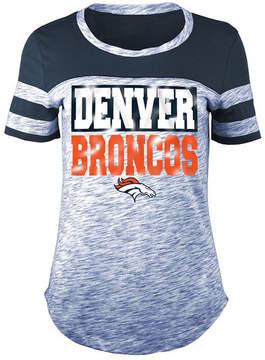 5th & Ocean Women's Denver Broncos Space Dye Foil T-Shirt