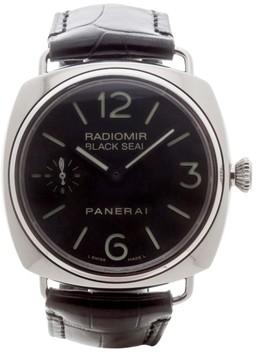 Panerai Radiomir Pam 183 Black Seal Deployment Buckle 39mm Mens Watch