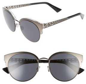 Christian Dior Women's Diorama Mini 54Mm Mirrored Lens Cat Eye Sunglasses - Black