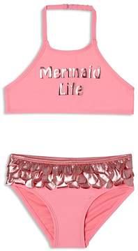 Hula Star Girls' Mermaid Life 2-Piece Swimsuit - Little Kid