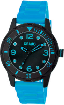 Crayo Unisex Splash Blue Strap Watch Cracr2207