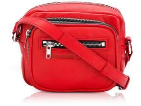 McQ Loveless Riot Red Leather Crossbody Camera Bag
