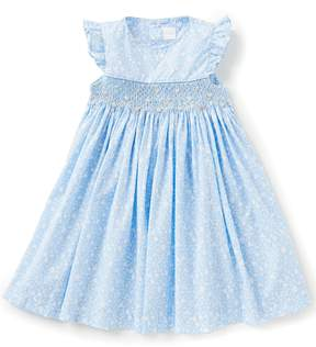 Edgehill Collection Little Girls 2T-6X Ditsy Smocked Floral-Embroidered Dress