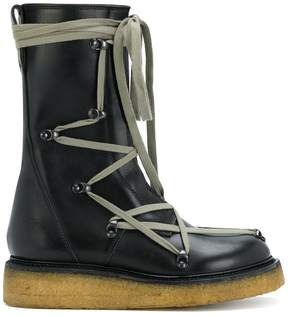 Rick Owens lace up work boots