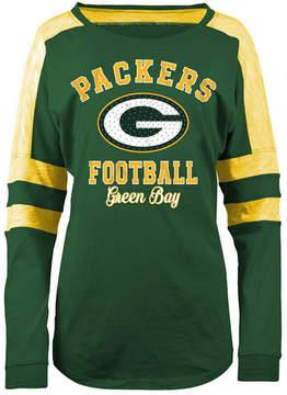 5th & Ocean Women's Green Bay Packers Space Dye Long Sleeve T-Shirt